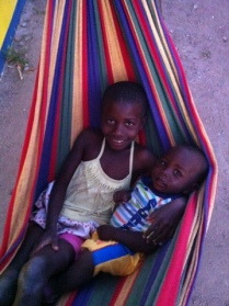 Julia and Glorian enjoying the hammock