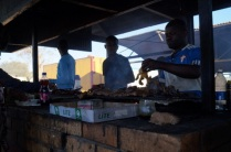 Braai at open market