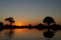 Sunset @ Okavango Delta